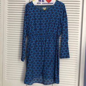 Blue long sleeve dress by J.Crew